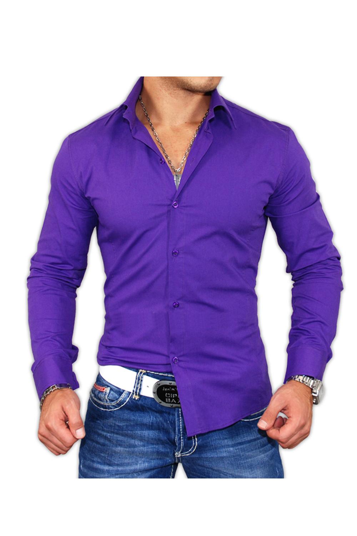 Chemise violette homme